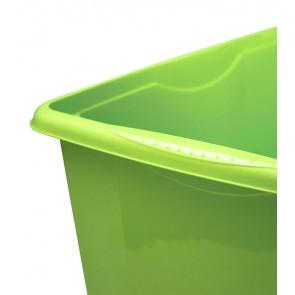 Colours műanyag tároló doboz, 45L, zöld, 55x39,5x29,5 cm - UTOLSÓ 40 DB