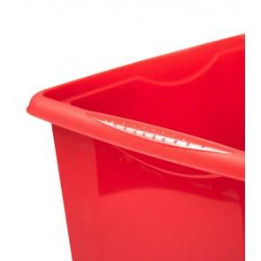 Colours műanyag tároló doboz fedéllel, 45L, piros, 55x39,5x29,5 cm
