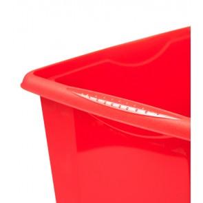 Colours műanyag tároló doboz fedéllel 30L, piros, 45x35x27 cm