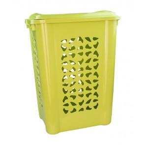 Magas ruháskosár, 60 L, zöld - UTOLSÓ 2 DB
