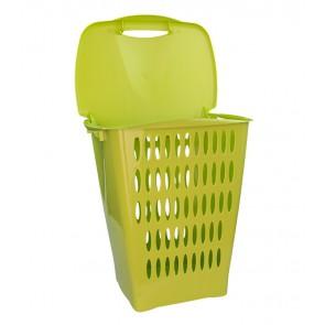 Magas ruháskosár, 45 l, zöld - UTOLSÓ 7 DB