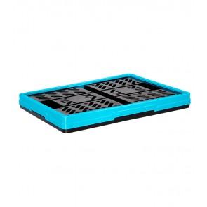 Műanyag, összecsukható rekesz, kicsi, kék, 47x34x23 cm