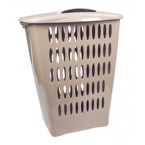 Magas ruháskosár, 45 l, szürke - UTOLSÓ 8 DB