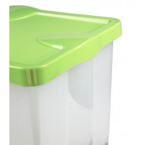 Roll műanyag tároló doboz, zöld, 60x40x35 cm - UTOLSÓ 2 DB