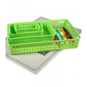 Műanyag kosár, A5, zöld, 24,5x18,5x6 cm - UTOLSÓ 9 DB