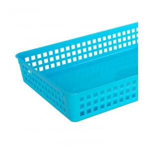 Műanyag kosár, A4, kék, 36,5x24,5x6 cm - UTOLSÓ 28 DB
