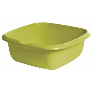 Szögletes tál kiöntővel, zöld, 34x34x12,8 cm - UTOLSÓ 2 DB