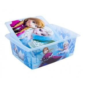 "Fashion műanyag tároló doboz,""FROZEN"", 39x29x14 cm"