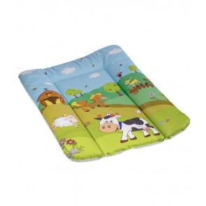 """Pelenkázó lap """"Funny Farm"""", világoszöld, 70x50x5 cm"""