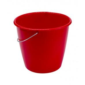 Vödör fém fogantyúval, piros, 5 L - UTOLSÓ 17 DB