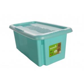 Színek műanyag doboz, 7 l, kék, fedéllel