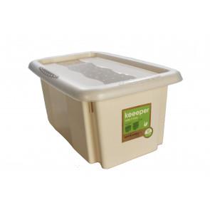 Műanyag doboz Színek, 7 l, krém fedéllel