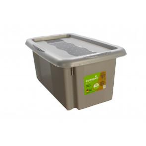 Színek műanyag doboz, 7 l, szürke fedéllel