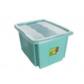 Színek műanyag doboz, 15 l, kék, fedéllel