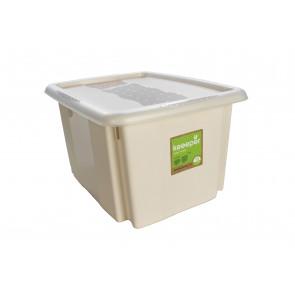 Műanyag doboz Színek, 15 l, krém fedéllel