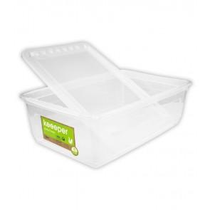 Basixx műanyag tároló doboz 30 l, átlátszó, 59x39x18 cm
