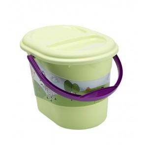 "Pelenkatartó vödör ""Hippo"", zöld, 37x26,5x26 cm"