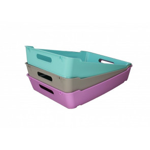 Loft műanyag tároló doboz A5, világoskék, 28x22x6,5 cm UTOLSÓ 5 DB