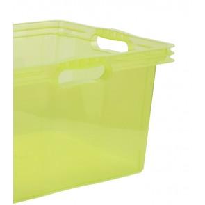 Multi XL műanyag tároló doboz, világoszöld, fedél nélkül, 43x35x23 cm