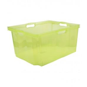 Multi XXL műanyag tároló doboz, világoszöld, fedél nélkül, 52x43x26 cm